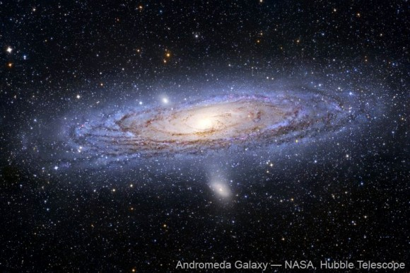 Picture of Andromeda Galaxy taken by Hubble Telescope